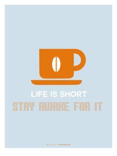 Coffee Poster Orange Print by NaxArt at Art.com
