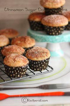 Cinnamon Sugar Donut Muffins | Donut muffins ~ Sankeerthanam (Reciperoll.com)|Recipes | Cake Decorations | Cup Cakes |Food Photos