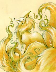 Kitsune by savicorn