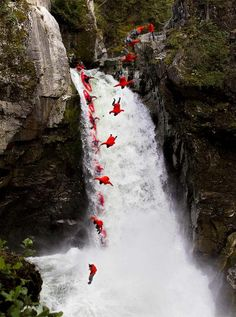 Jumping from Mamquam Falls time-lapse