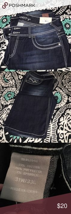 Vanity jeans Curvy vanity jeans. Brand new with tags. Size 31W/33L. No stains. Vanity Jeans Boot Cut