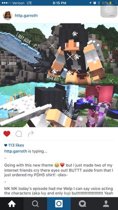 Aphmau should have been able to take her but she couldn't if you notice Ivy has particals around her there not aph's, aph's are white there are some pink particals around Ivy. i also notice this several times with Aaron a good time is when aph and them found the island, only the people with magiks could see the warlock so why did Aaron post up at the same time as Aph and why were there purple particals around him. BECAUSE HE HAS MAGIKS!!
