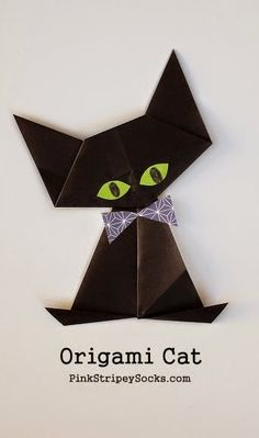 Fábrica do Arco-Iris: Origami Black Cat