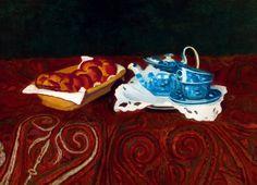 FERENCZY KÁROLY (1862 - 1917) Kalács és kék porcelán (Uzsonna előtt), 1911