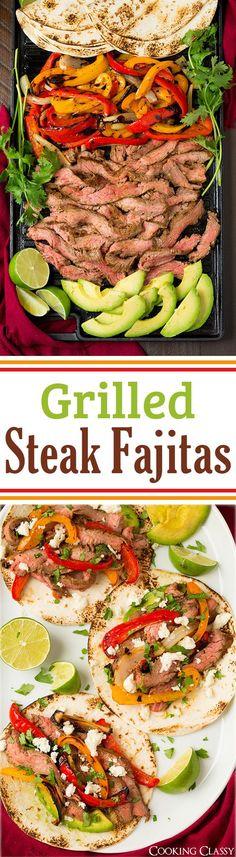 Grilled Steak Fajitas – these were AMAZING! Flavorful and easy to make! Grilled Steak Fajitas – these were AMAZING! Flavorful and easy to make! Steak Recipes, Grilling Recipes, Cooking Recipes, Healthy Recipes, Steak Fajitas, Marinade Steak, Teriyaki Steak, Chicken Fajitas, I Love Food