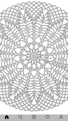 Crochet Doily Diagram, Filet Crochet Charts, Crochet Square Patterns, Crochet Doily Patterns, Crochet Mandala, Crochet Designs, Crochet Stitches, Crochet Dollies, Crochet Fabric