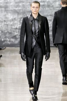 Yves Saint Laurent Fall/Winter 2012 leather look.