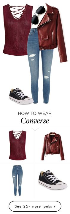 """""""Untitled #657"""" by clairebears4150 on Polyvore featuring Sans Souci, River Island and Converse"""