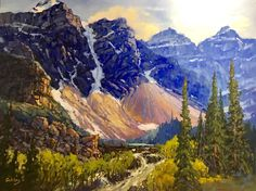 Canadian Artist Jean Geddes is a featured artist at the mountain galleries at the fairmont. Jean's paintings are available. Landscape Paintings, Landscapes, Canadian Artists, Acrylics, Outdoors, Oil, Gallery, Board, Travel