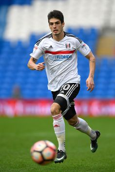 Lucas Piazon of Fulham in action during The Emirates FA Cup Third Round match between Cardiff City and Fulham at Cardiff City Stadium on January 8, 2017 in Cardiff, Wales.