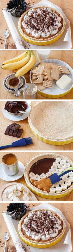 Stačí si pořídit krásnou formu a můžete se pustit do irského nepečeného koláče banofee pie. Banány, čokoláda, karamel – klasické chutě, nad které není.