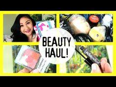 ▶ Beauty Haul & Review+Demos! Canmake Blush, Benefit Gimme Brow, Lush, Lip Crayon! - YouTube