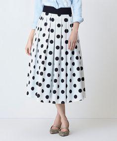 Look at this #zulilyfind! White Polka Dot Vienna Skirt - Plus Too #zulilyfinds
