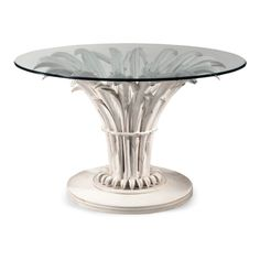 Roberto Giovannini Dining Table With Lake Plant Carving - Choice of... ($9,830) ❤ liked on Polyvore featuring home, furniture, tables, dining tables, home decor, crystal table, hand carved furniture and carving table
