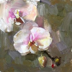 Orchid Study 1, painting by artist Qiang Huang