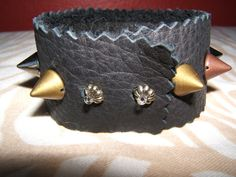 Leather Spiked Bracelet
