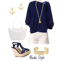 """chic sea style"" by pandastyle-821 on Polyvore"