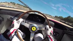1965 Ferrari 250LM Driver POV racing at Laguna Seca