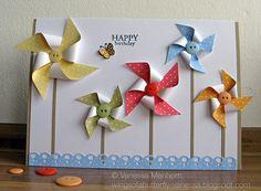 Birthday Pinwheel Card by @Vanessa Menhorn