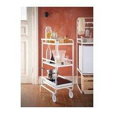 SUNNERSTA Utility cart  - IKEA    Add marble contact paper to the shelves for a classy look!