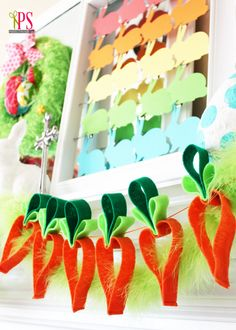 Easter Mantel Decorations | Positively Splendid {Crafts, Sewing, Recipes and Home Decor}