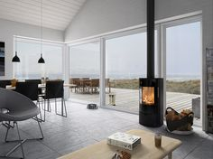 Time to relax  #Nordic #Home #Rais #Stove #Fireplace #Fire #Design