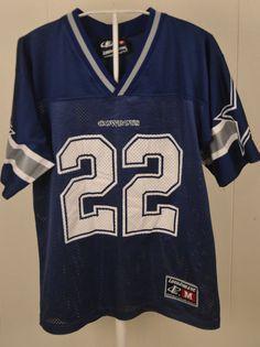 LogoAthletic Dallas Cowboys Jersey  22 Emmitt Smith NFL Youth Medium 10-12  Blue   617329952