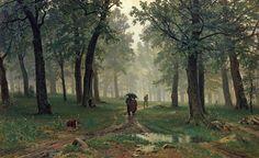 Painting Rain | enlarge painting painting name rain in the oak grove 1891 painting ...
