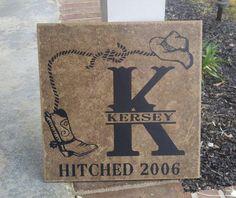 12x12 Personalized Ceramic Tile. $25.00, via Etsy.