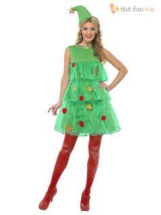 Tamano-8-18-Damas-Sexy-arbol-de-Navidad-Tutu-Adultos-Para-Mujer-Fiesta-De-Disfraces