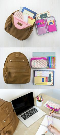 It includes a backpack, pen case, pouch, numerous notebooks, stationeries and a pen set. Stand out with the unique and exclusive School Collection. College School Supplies, Cute School Supplies, College Hacks, School Hacks, College Life, Diy Organizer, Middle School, Back To School, Hate School