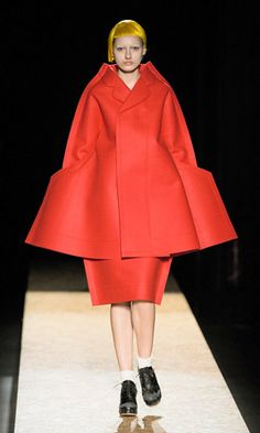red angular Comme des Garcons