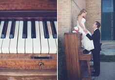 Victoria Anne Photography | bride & groom | & a piano