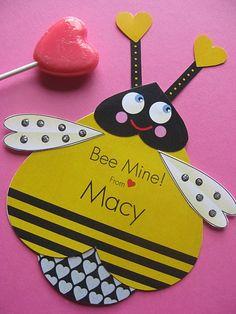 Bee Valentine Card Craft by TBoneSquid on Etsy, $10.00
