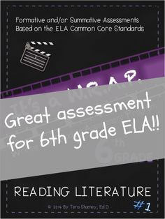 Awesome assessment for 6th grade ELA