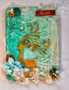Life is a Balancing Act.: Colourful Creation + Christmas ATC's @ Scrapmatts :)