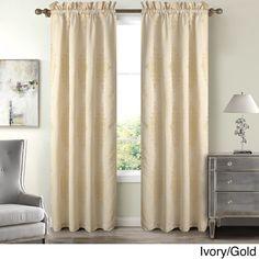 Madison Toulon Polyester 84-inch Damask Window Curtain Panel (