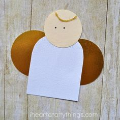 Budget-Friendly Paper Angel Craft   Christmas just isn't the same without pretty angel crafts setting the mood and creating a peaceful presence in the house.