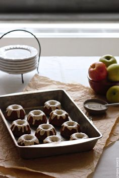 Applesauce Teacakes with Brown Butter Glaze | urbanbakes.com
