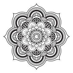mandala: Mandala. Ornamento rotondo