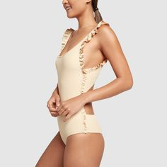 Ruffle Petal One-Piece Swimsuit Preteen Girls Fashion, Girl Fashion, Made By Dawn, Sports Bra Outfit, Cute Little Girl Dresses, Cute Swimsuits, Beachwear, Swimwear, One Piece Suit