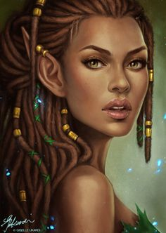 Fantasy female elf dreadlocks dreads woman of color woc - Banque d'Image Collective Avataresque - Page 2 Fantasy Anime, 3d Fantasy, Fantasy Women, Fantasy Girl, Fantasy Portraits, Character Portraits, Character Art, Baldur's Gate Portraits, Elfa