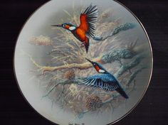Rosenthal collector's plates 1992 Gerhard Bluhm jewels of the bird world plate no. Gerhard, Shops, Vintage Plates, Teller, The Collector, Etsy, Birds, World, Tableware