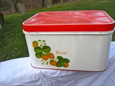 A strawberry breadbox is something I don't yet have for my future kitchen! Gotta find myself one of these! :)