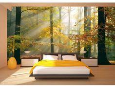 "Discover the magic of Lars Van de Goor's artwork with this beautiful landscape wall mural ""Sinfonia Della Foresta"". Bedroom Murals, Wall Murals, Bedroom Decor, Wall Decor, Bedroom Ideas, Interior And Exterior, Interior Design, My New Room, Living Room Interior"