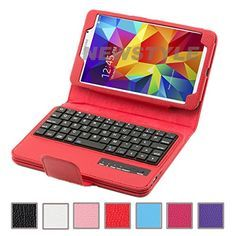 """NEWSTYLE Removable Wireless Bluetooth Keyboard ABS Plastic Laptop Stylish Keys and Protective Case For Samsung Galaxy Tab 4 7.0"""" 7.0 inch Tablet SM-T230 SM-T231 SM-T235 W/ Remote Control Camera Shutter Release Self Timer Feature (Red) NEWSTYLE http://www.amazon.com/dp/B00MEJVNN8/ref=cm_sw_r_pi_dp_nYhCub0RGRCK0"""