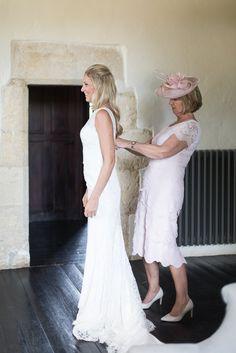 bridal prep final touches for An Elegant Rustic Destination Wedding at Chateau Rigaud, Bordeaux