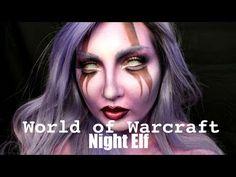 World of Warcraft Night Elf Tutorial / Jordan Hanz Diy Elf Costume, Costume Makeup, Costume Ideas, Elf Makeup, Makeup Art, Halloween Makeup, Cosplay Diy, Cosplay Ideas, Cosplay Costumes