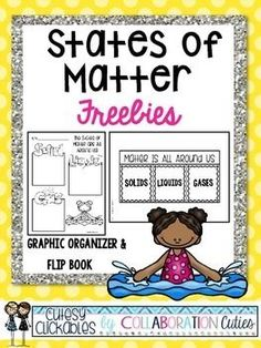States of Matter Freebies {Graphic Organizer & Flip Book} Primary Science, Kindergarten Science, Elementary Science, Physical Science, Science Classroom, Teaching Science, Science Education, Science For Kids, Science Activities