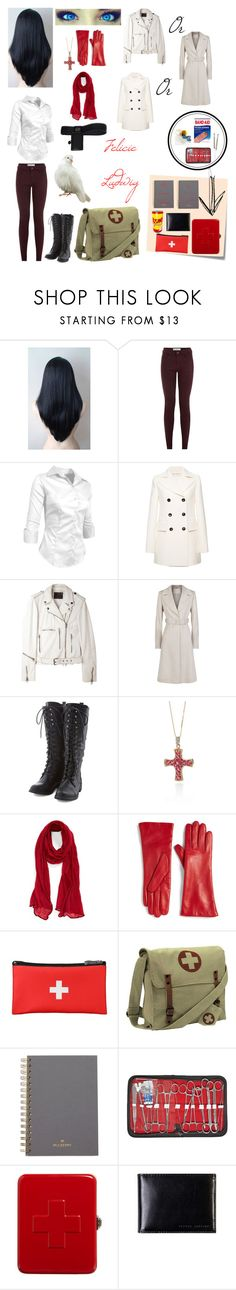 """The Medic's daughter (Team Fortress 2 OC)"" by nebulaprime on Polyvore featuring beauty, Marni, R13, BOSS Hugo Boss, Bella Borz, Belk & Co., Roffe Accessories, Post-It, Saks Fifth Avenue Collection and Mulberry"